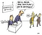 Assertief gedrag cartoon
